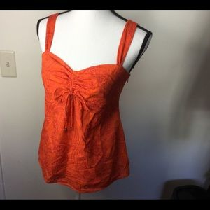 LILLY PULITZER Tangerine Cami w/Pink embroidery 6
